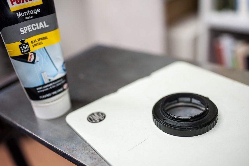 Adaptermontage auf dem Lensboard