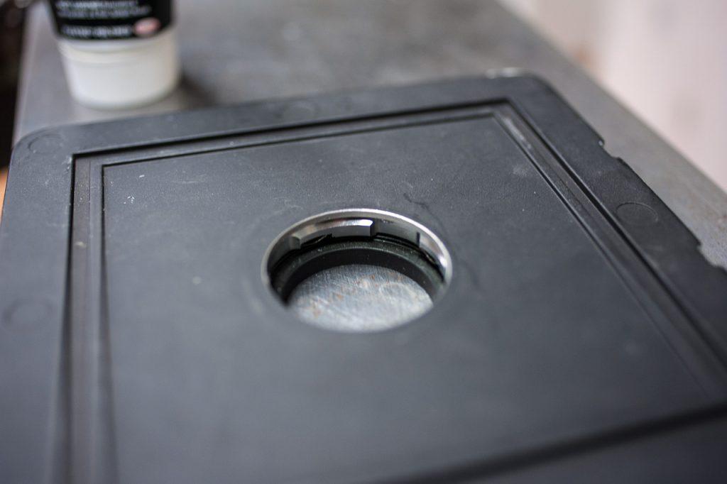 Lensboard mit Adapter von hinten